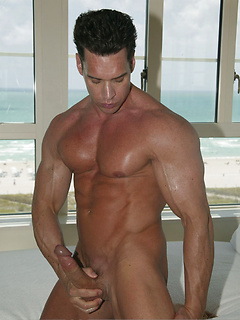 Head to the beach with a smooth hunk and watch him flex those thick muscles