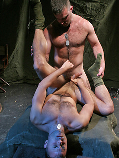Naughty gay dude gets talked into fucking a friend's ass until he cums