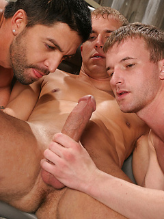 Big cock double anal penetration for gay bottom Dominic Pacifico