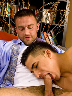 Gorgeous hairy chest on a hot bearded guy taking cock in the ass from a smooth dude