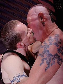 Chad Adams fists and bareback fucks this chubby dads juicy bunghole