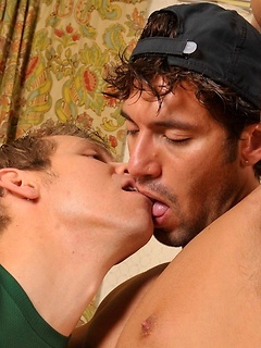 Two raunchy and hot fellows make each other's throbbing dicks explode with cum