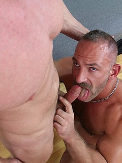 Gay daddies with gorgeous bodies make ass eating and fucking porn