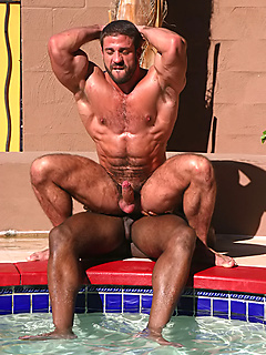 Skinny dipping and outdoor interracial sex with a pair of muscular hunks