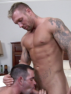 Hot and fit dude with gorgeous tattoos pounds his dick into a tight ass