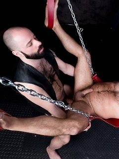 Two buff and bearded guys go to the dungeon in order to have some kinky sex