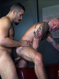 Gay dudes suck on each other's boners before they fuck one another's ass