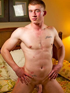 Solo gay dude takes off the clothes before he starts jerking his stiff pecker