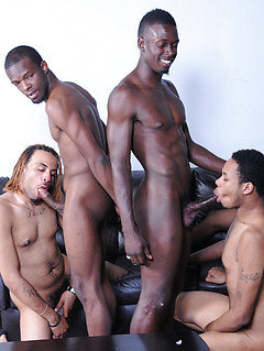 Group of horny gay guys finally gets to please each other's hard cocks