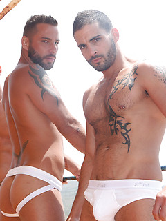 Mathew Mason and his two friends know how to please each other's butts