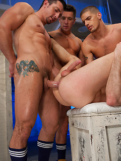 Jimmy Durano and his horny friends take turns at fucking a naughty dude