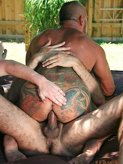 David Camacho and his friends love them some kinky outdoors fucking session