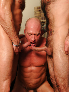 Chad Brock and his two friends finally get to please each other's dicks