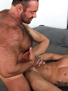 Horny guy Brad Kalvo gets to bang his naughty friend while he moans loudly