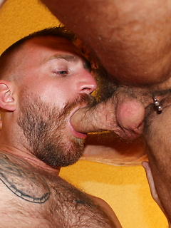 Two sexy studs James Roscoe and Chad Brock have some rather kinky bedroom fun