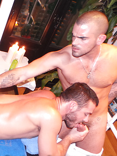 Two stunning gay hunks prove how versatile they can be as they fuck each other