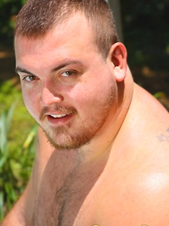 Chubby guy makes his hard member explode with hot jizz all over his big belly