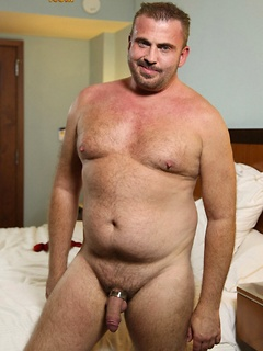 Solo dude takes off the jeans so he can play with his cock until he cums
