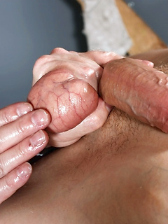 Daddy has a boy bound in his dungeon and he treats him to the finest edging session ever