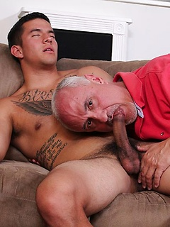 Jake Cruise enjoys pleasuring a throbbing member of his hot Latino lover