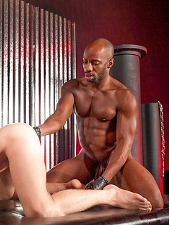 Black gay god Race Cooper fist fucks a white asshole and stretches it wide