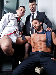 Work is boring and fucking is so much more fun with these three perfect hunks