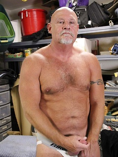 Naughty guy slowly takes off the clothes so he can play with his pecker