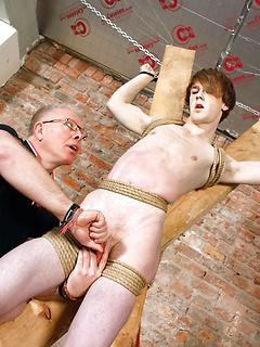 Kai Alexander got his stiff cock sucked after a horny dude tied him up